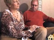 blonde milf fucks dick with another
