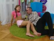 Bf assists with hymen examination and nailing of virgin teeni