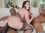 Chanel Preston threesome interracial anal fuck