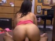 Big Titty Brunette Nina Getting Smashed On Pawn Shop Desk