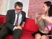 Innocent schoolgirl gets seduced and plowed by her elder tuto