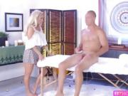 Blonde Masseuse Olivia sucks and fucks bzhotporns