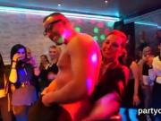 Frisky nymphos get completely silly and nude at hardcore part