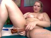 Sexy Blonde Zoey Tyler Strips And Fucks A Dildo