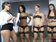 Sex goddess teaches hot gals how to fuck