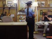 Law enforcer gets banged by pawn keeper at the pawnshop