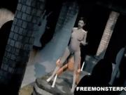 Sexy pale 3D cartoon lesbian babe getting eaten out