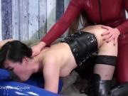 Fetish couple fucking female slave