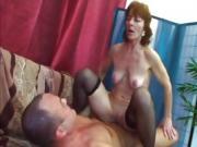 Ivet Dildo Fucks Her Mature Pussy Before Banging Thomas