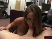 A hot sexy babe with juicy ass pounded in the office for cash
