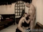 Old bastard and old spunkers eat cum She even climbs his ladd