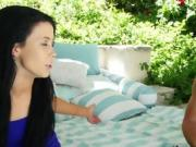 Whorish Teen Aliana Blows Big Dicked Pool Boy