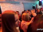 Naughty cuties get totally wild and nude at hardcore party