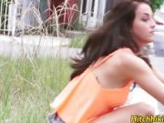 Hitchhiker Mallory Madison ends up with a dick in her pussy
