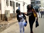 Small African Girl Pleasures BBW African Woman