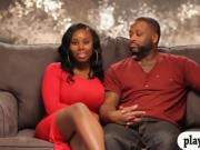 Black couple threesome with nasty lady in the bedroom