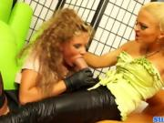 Two Kinky Sluts Get Frisky And Messy In The Office