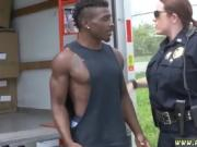 Cop uniform threesome and bad cop fucks good prisoner lesbian
