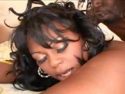 Chubby Ebony Woman Sucks Down A Large Cock