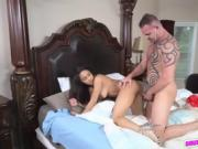 Horny chick Nicole Bexley sucking a cock large meat