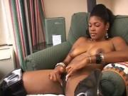 Hot Black Chick Showing Off Her Body And Tight Pussy
