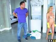 Johhny Castle licks hot naked milf Alexis Fawxs pussy