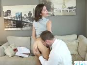 Shaved pussy and brunette Renee Roulette gets fucked by Mirko