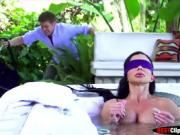 Mommy Jewels Jade is surprised in jacuzzi while naked