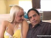 Sexy Blonde Chick Sucks The Cock Of A Dark Skinned Man.