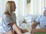 Blonde teen Hollie Mack gets pussy smashed by her stepbro