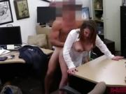 White milf woman gets her pussy fucked by Shawn in his office
