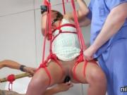 Naughty teenie is brought in anus loony bin for painful treat
