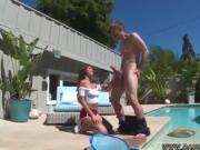 Sexy russian teen Nina North Fucks The Pool Man
