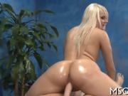 Yummy girl licks huge dick