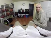 Blonde school girl Alex Grey gets naughty with you in VR
