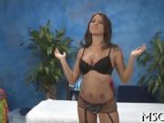 Sexy hottie worships big dick