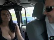 Two sexy women flash their big boobies for some money