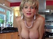 Adulterous uk mature lady sonia pops out her giant naturals