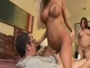 Tory Lane And Her Sexy Friend Fuck A Nerdy Guy