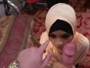Arab Nikki Kay Sucks Big Cock For Some Cash
