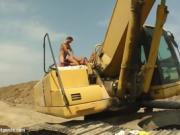 Latina Picks Up Two Guys At A Construction Site