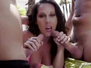 White Girl Gives A Hand Job And Blow Job Outdoors