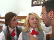 Wild Schoolgirls Get Punished By Deviant Principal