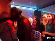 Sexy cuties get absolutely foolish and nude at hardcore party