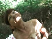 Older White Milf Sucks A Cock Outdoors At The Picnic