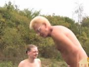 older couple fucking outdoors