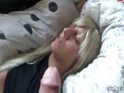 Napping facial hot blonde