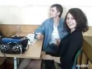 College classroom handjob