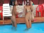 How They classroom sex In Brazil Girls Fool Around Naked In The Pool