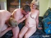 Seniors in bisexual threesome